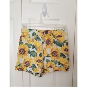 Bullhead high-waisted sunflower shorts